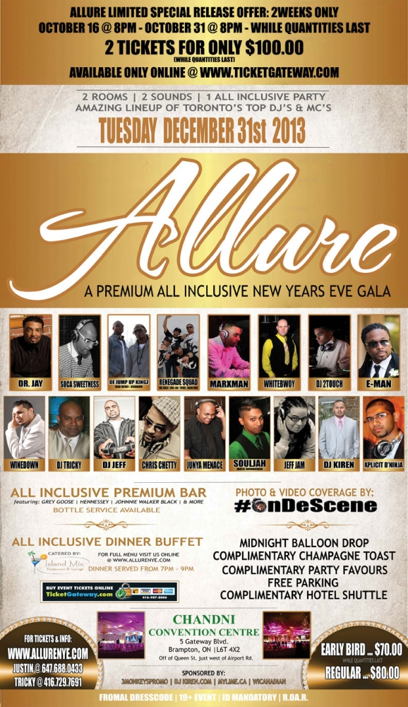 Allure 2014: A Premium All Inclusive New Years Eve Gala on ...