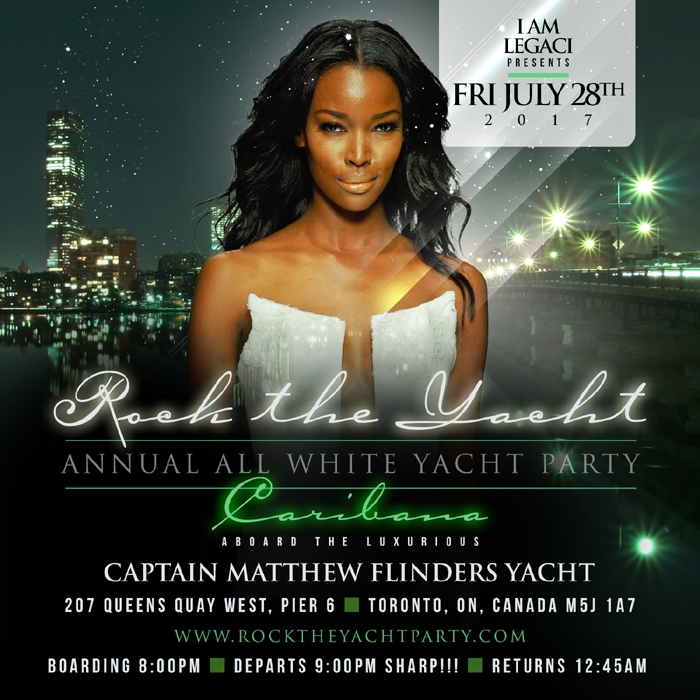 5th Annual Rock The Yacht All White Yacht Party • Caribana