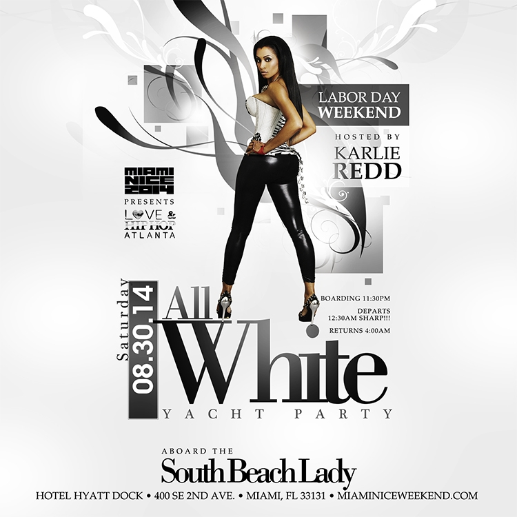 Miami Nice 2014 Annual Labor Day Weekend All White Yacht Party On