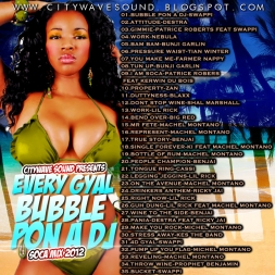 Every Gyal Bubble Pon A Dj  Soca mix2012