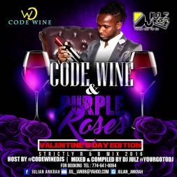 DJ JULZ {{ CODE WINE & PURPLE ROSES }} VALENTINES DAY MIX 2016