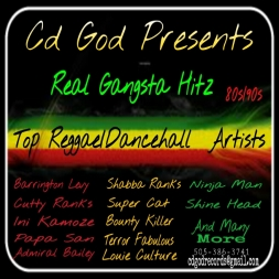Cd God Presents Real Gangsta Hitz, Reggae/Dancehall 80s/90s