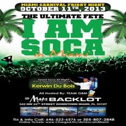 I Am Soca MIami 2013 Promo
