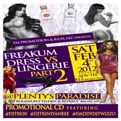 FREAKUM DRESS VS LINGERIE PART 2 PROMO CD MIXTAPE