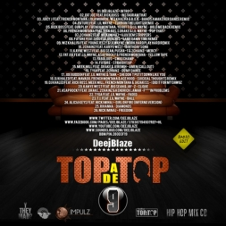 TOP A DE TOP VOL 9 HIP HOP MIX CD JAN 2013